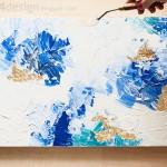 мастер-класс «Абстрактная живопись с золотой поталью»