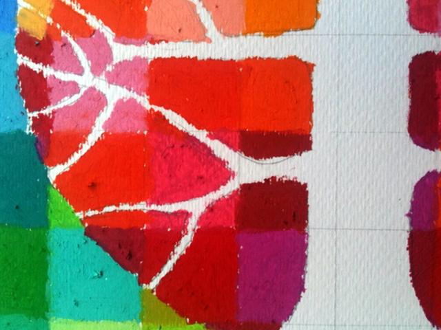Рисуем масляной пастелью по бумаге
