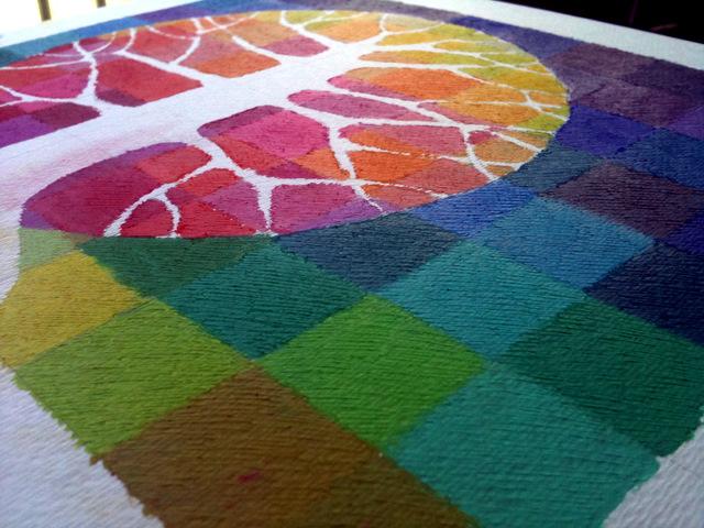 текстура масляной пастели