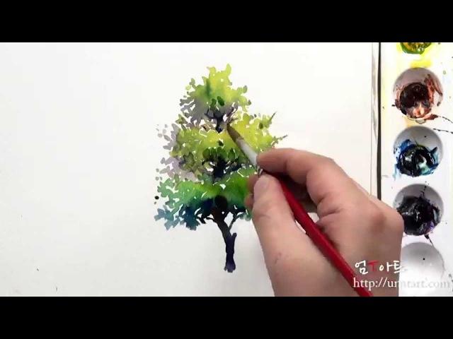 как нарисовать дерево видео