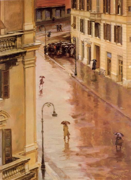 Rain, Giacomo Balla