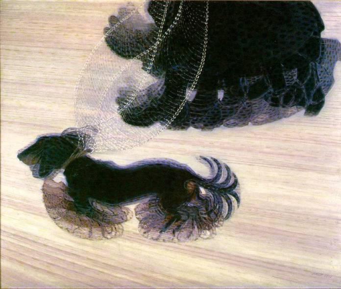 Динамизм собаки на поводке, 1912, Художник Балла Джакомо